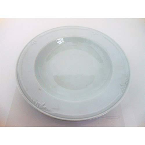'fimel- Lot de 12 assiettes creuses en porcelaine blanche, modèle \