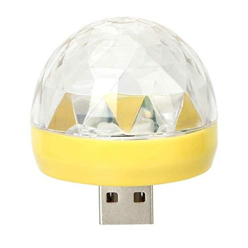 XC Decorative Lamp Car LED Atmosphere Light DJ RGB Lamp USB Club Disco Magic Stage Effect Light Auto Interior Light Ornament (Club-car-computer)