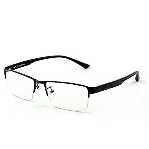 Cyxus filter blaues licht halb randlos brille [transparente linse] anti Überanstrengung der augen computerbrille besserer schlaf (Schwarzer Halbrahmen)