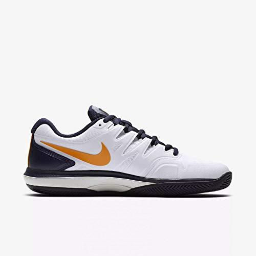Nike aa8019, scarpe da tennis uomo, bianco (white/orange peel-blackened bl 180), 43 eu