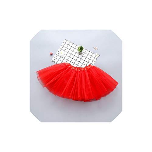 Baby Girl Clothes Pink Tutu Skirt Princess Ball Gown Pettiskirts Birthday Party Skirts,Red,8T (Biker Kostüm Für Kleinkind)
