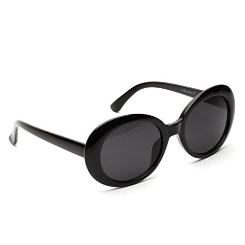 Zolimx occhiali da sole da donna uomo polarizzati,occhiali da sole love heart donna rotondi vintage sunglasses cat eye-prevenire l'ultravioletto-multicolore (nero)