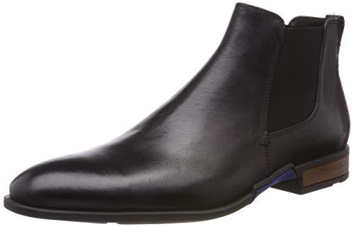 LLOYD Herren RONJO Chelsea Boots, (Schwarz 0), 42 EU - Schwarze Leder Chelsea Boots