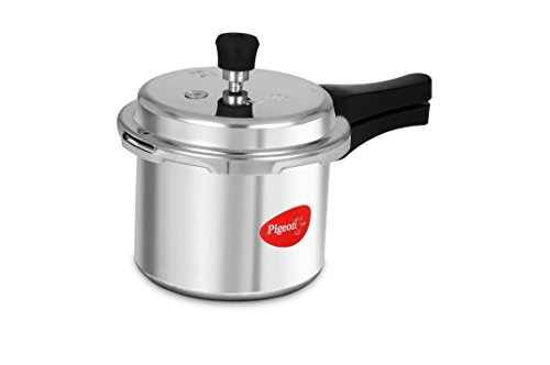 Pigeon Favourite Outer Lid Aluminum Pressure Cooker, 3 Litres, Silver