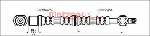 Preisvergleich Produktbild Metzger 4112213 Bremsschlauch