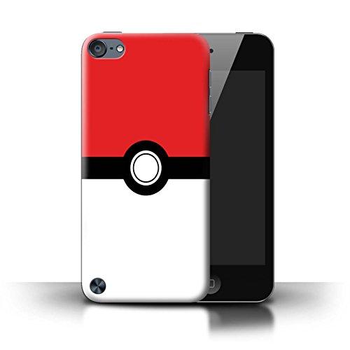 Stuff4® Hülle/Case für Apple iPod Touch 5 / Rot Muster/Pokeball Anime Inspiriert Kollektion -