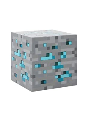 Limited Edition Think Geek Minecraft Light-Up Diamond Ore Blue