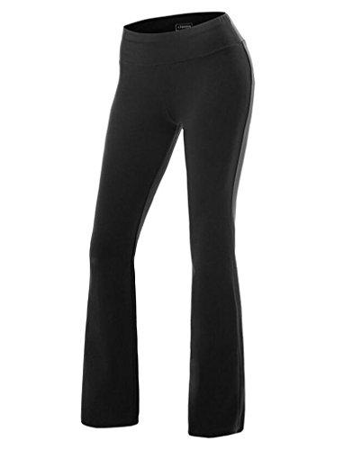 ZKOO Mujeres ólido De Las De Color Elástico En La Cintura Lazo Suelto Pierna Pantalones Casual...