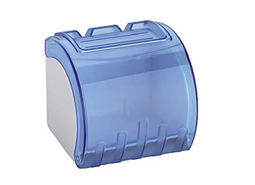 LAOLIU Toilettenpapierkasten Badezimmer wasserdichter ABS-Plastikrollenpapierkasten, transparentes Blau