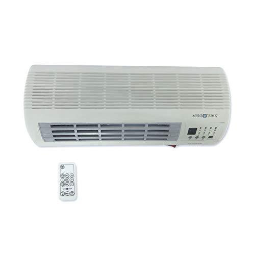 CE04201 Calefactor split de pared, 2000 W, cerámico, 2 posiciones,ventilacion, temporizador, MUNDOCLIMA...