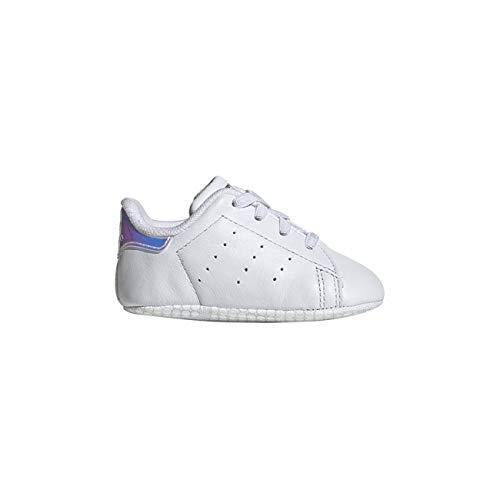 classic fit 6ac63 10171 10. adidas Unisex Baby Stan Smith Crib Gymnastikschuhe Weiß FTWR White Silver  Met, 17 EU