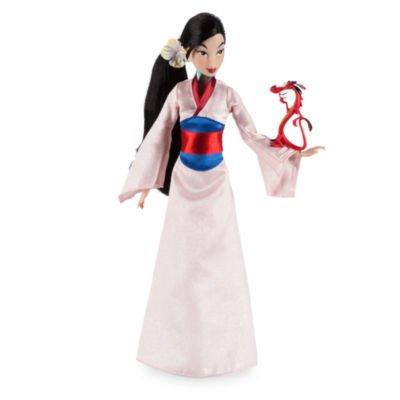 Mulan Classic Puppe Langes, realistisches Haar mit einer Blume (Mulan Kostüm Haar)