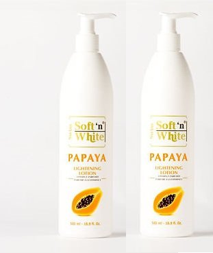 Swiss Soft n White Papaya Lightening Lotion Even Lighter Skin Tone Whitening(PACK OF 2) by YouLookLight by YouLookLight