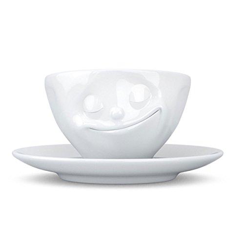 FIFTYEIGHT PRODUCTS Fiftyeight Espressotasse mit Henkel glücklich/weiß