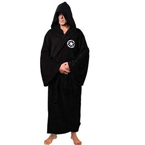 1PC Caballero Jedi Robe Fleece Batas Disney Star Wars Albornoz cosplay Set para el hombre y la mujer (M, Negro)