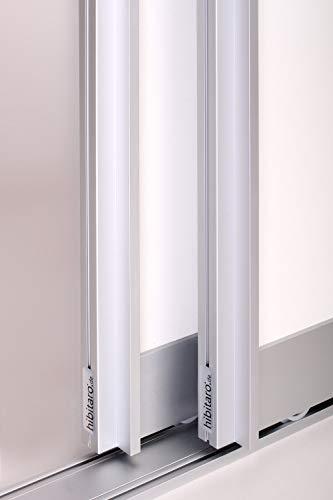 Schiebetürbausatz inkl. Aluminium Rahmentyp B | Inkl. Beschläge für 2 Türen, max. Flügelmaße: 1036 x 2700 mm | Füllung kommt von Ihnen | Boden- und Deckenschiene in 2000 mm