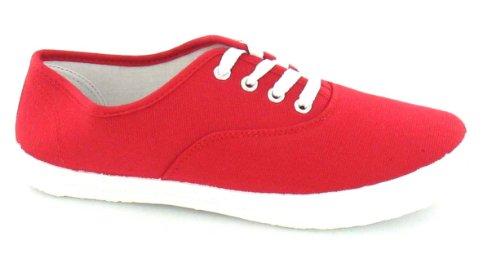Spot On , Baskets mode pour femme Rouge - rouge