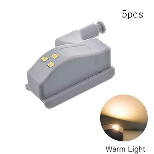TianranRT 5PCS Universal LED Unter Kabinett Licht Schrank Inner Scharnier Lampe Küche Licht (B)