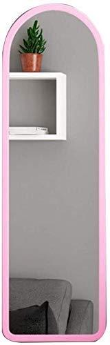 Spiegel Artikel Haushalt Wand Hung Ganzkörper gerahmter Spiegel, Freistehende Stand Spiegel Dressing Adjustable Schlafzimmermöbel (Color : Pink, Size : 120 * 44cm)