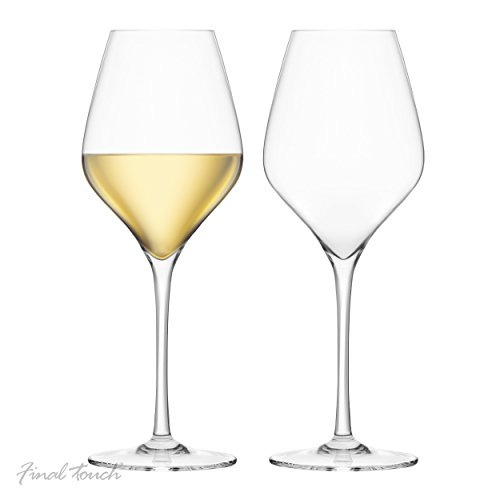 Final Touch 100% Lead-free Crystal White Wine Glasses Weiß Weingläser Kristallglas Hergestellt mit...