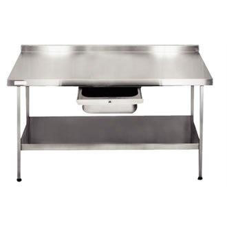 Franke F20602 W murale en acier inoxydable Table, Entièrement assemblé