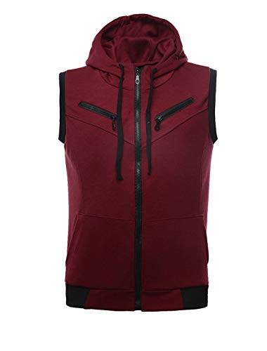 uxcell Herren zip up hoodies känguru-tasche beiläufige mit kapuze weste m (us 38) - Assassin's Creed Moderne Assassine Kostüm