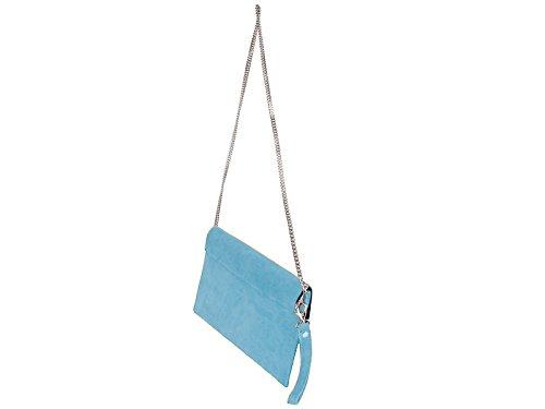 scarlet bijoux, Poschette giorno donna one size (blu chiaro)
