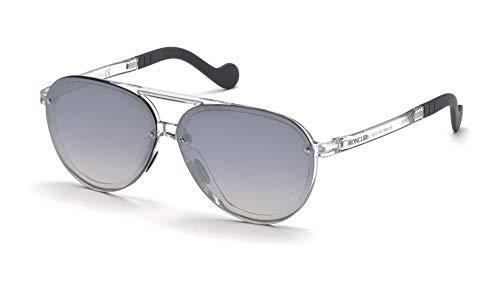 Moncler Unisex-Erwachsene ML0063 27C 61 Sonnenbrille, Transparent (Cristalllo),