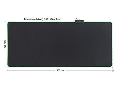 DeLock USB Mauspad mit RGB Beleuchtung, 12556