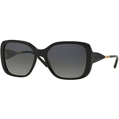 BURBERRY Unisex BE4192 Sonnenbrille, (Gestell: schwarz, Gläser: grau-verlauf polarisiert 3001T3), Large (Herstellergröße: 56)