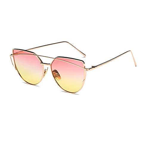Junecat Unisex Doppel-Brücke Sonnenbrillen Frauen Männer Metallrahmen Resin Objektiv Sonnenbrillen Anti-UV-Skifahren-Reise Brillen