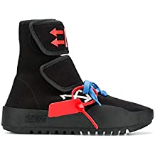 85c1990985d OFF-WHITE Hi Top Sneakers Uomo OMIA108F18B830011001 Cotone Nero