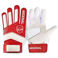 Official ARSENAL FC red and white kids goalkeeper gloves