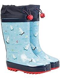 Mountain Warehouse Botas de Agua con Estampado para niños - Botas de Agua Wellington Ligeras con Entresuela de EVA y Suela Exterior de Goma - Calzado para niños