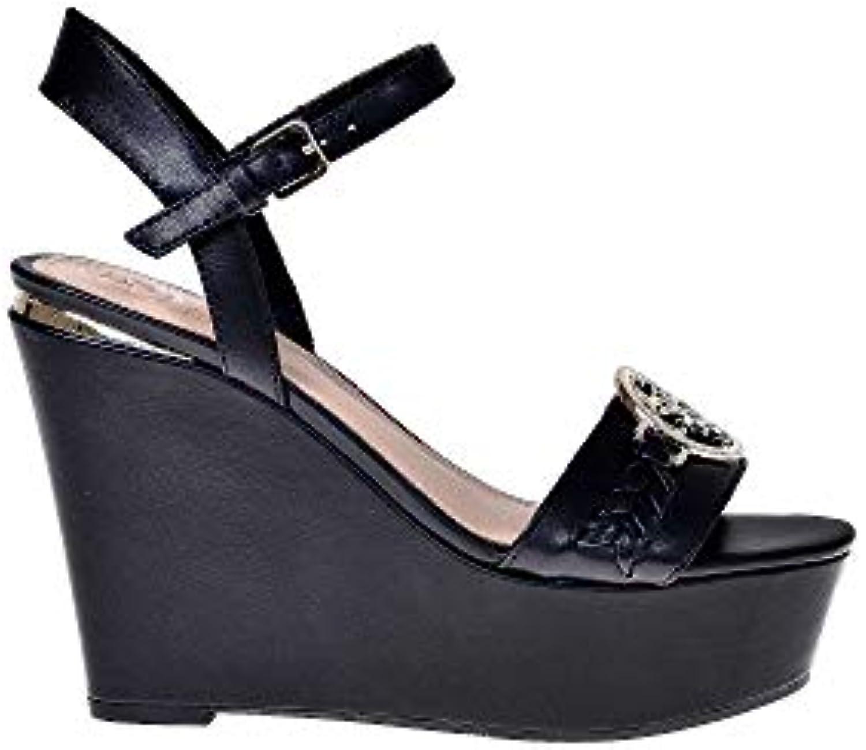 Guess FL6GES LEA04 GESINA Sandali Scarpe Donna Zeppa Fibbia Pelle Logo nero | Qualità e quantità garantite  | Gentiluomo/Signora Scarpa