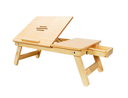 Emeret Laptop Table Wooden Multipurpose Table For Laptop/ Study / Reading /...