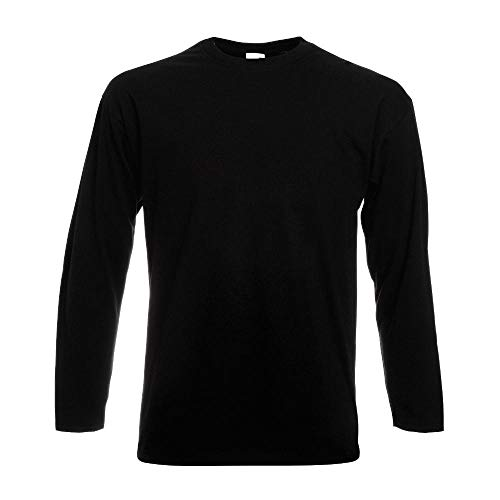 Fruit of the Loom - Langarm-Shirt 'Value Weight LS' / Black, L