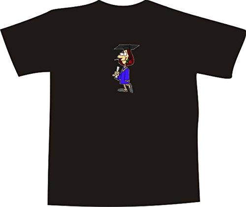 T-Shirt E1289 Schönes T-Shirt mit farbigem Brustaufdruck Farbe nach Wahl XXL - Logo / Grafik / Design - Mädchen beim Studienabschluss Diplom Magister Bachelor (Diplom-folie)