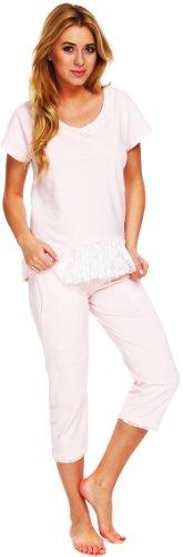Italian Fashion IF Ensemble de Pyjama Femme Lady 0225 Abricot