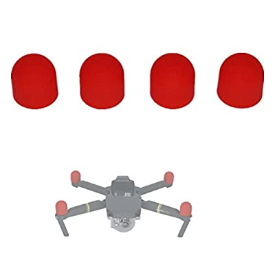 Hensych 4 Pieces Pack Mavic Pro Motor Protector Silicone Covers for DJI Mavic Pro Engine Cover Red