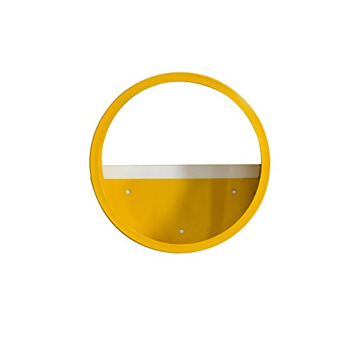 liitrton Blumentopf zum Aufhängen rund Eisen und Glas Kreis, Vase Deko Sukkulente Wand Töpfe Decor gelb