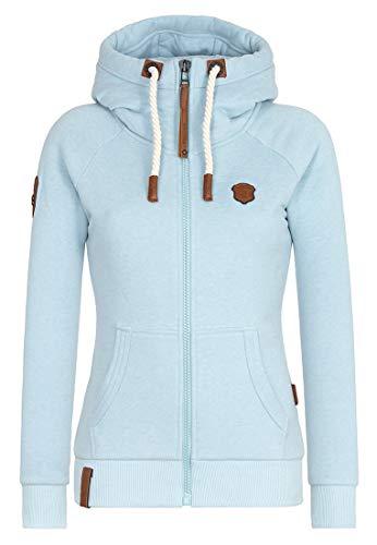 Naketano Female Zipped Jacket Brazzo Pastel Blue Melange, L