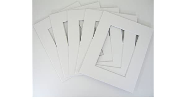 bag Golden State Art Pk08100507501w030 30 8x10 8-ply white mat for 5x7 photo w// Back Set of