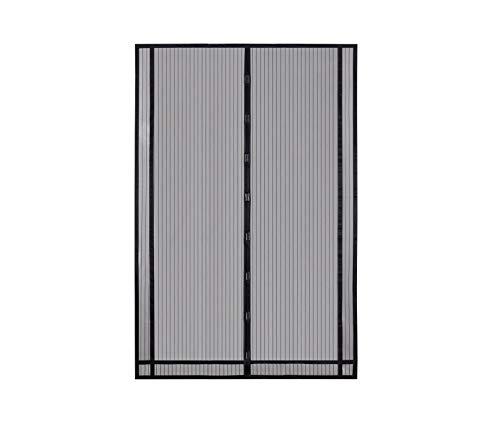Sekey 230x160cm Magnetvorhang zum Insektenschutz, idealer magnetischer Fliegengitter für Balkontür, Kellertür, Terrassentür (zuschneidbar in Höhe und Breite) durch kinderleichte Klebemontage, Schwarz -