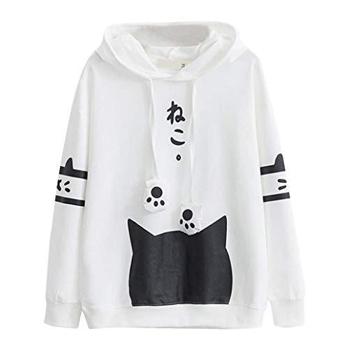 Hoodies & Sweatshirts Motivated Cute Ear Cat Winter Hooded Pullovers Women Autumn Long Sleeve Black Sweatshirt Vintage Top Casual Hip Hop Tops Loose Sweatshirts Online Discount