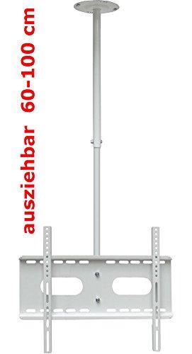 TV Plafond, Mansardée et Support Mural pour l'ensemble du Moniteur LED LCD Plasma DE 76 cm - 177 cm (30 à 70 Pouces) avec VESA de 100x100 mm à 660x400 mm, 360 ° Rotation Extensible Réglable (Blanc)