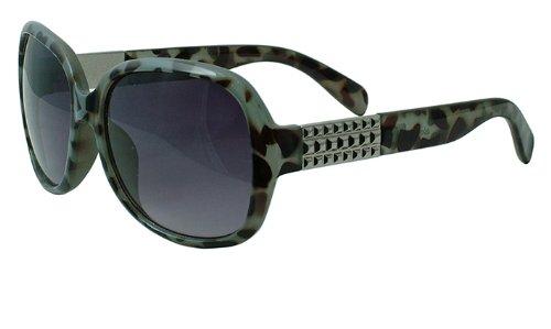 About Eyes SR163 Vicky - Vergrößerung +1.00, Schwarz und grau Bild, silver detail tempel bereit-zu-tragen Lesesonnenbrillen, 1er Pack (1 x 1 Stück)