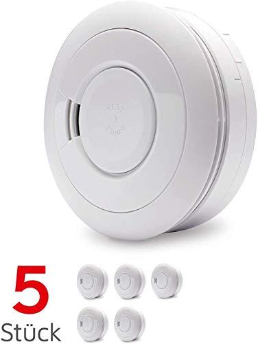 Ei Electronics Ei650 Rauchmelder (mit 10-Jahres-Batterie, Testsieger Stiftung-Warentest, 5er Set)