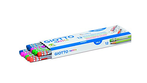 Giotto 936185 Bleistift 2HB mit Radiergummi