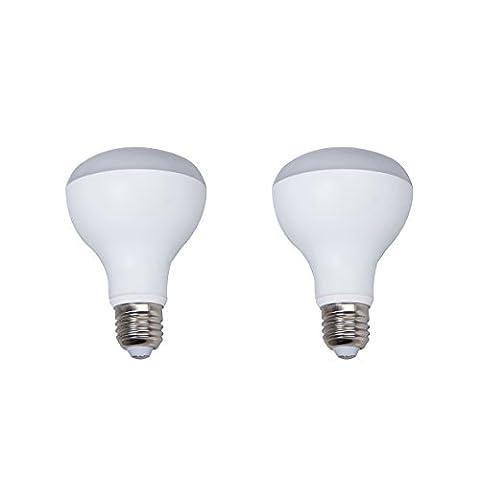 2-Pack Boîtier en aluminium non dimmable LED Ampoules R80 E27 Base 9w (60w équivalent) Angle de faisceau de 180 degrés